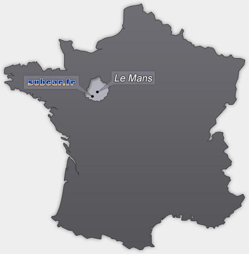 sarthe carte de france - Image